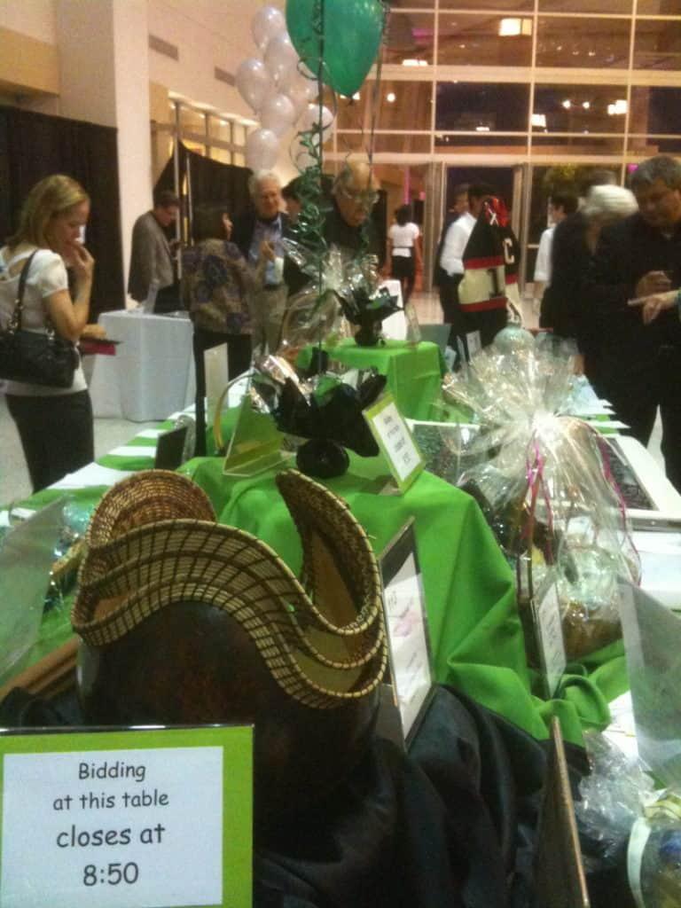 silent auction idea creatively display auction items