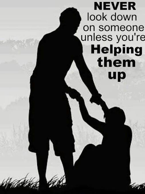 helping up
