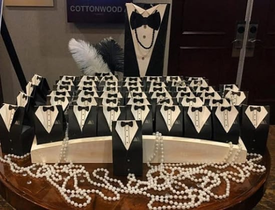 Great Gatsby Themed Live Surprise Boxes
