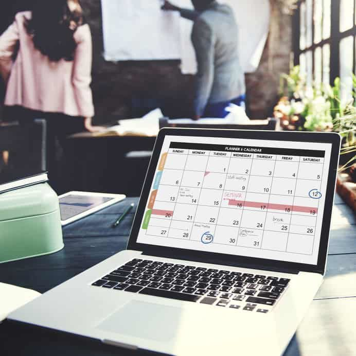 Event Engineering Calender Planner Organization Management Remind Concept